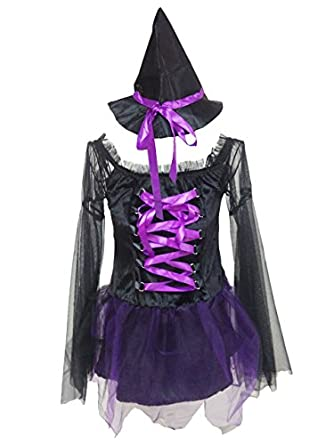 BSLINGERIE® Women Dark Witch Vampire Halloween Costume Dress