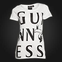 Guinness White Black Toucan Ladies Tee