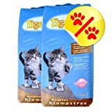 Doppelpack TIGERINO Nuggies Katzenstreu - Babypuderduft 2 x 14kg