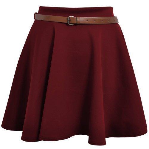 Da donna con Minigonna da donna con passaggio per cintura a punta misure tinta unita Mini gonna UK 8 10 12 14