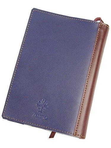 [アルベロ] ALBERO ブックカバー 文庫本サイズ 革 4362 LYON リヨンシリーズ ブルー×バーガンディ AL-4362-68