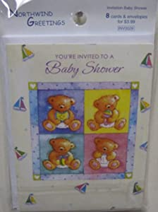 Baby Shower Invitations With Envelopes 8ct.