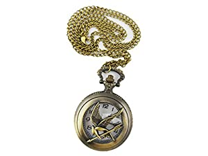 Popular vintage lucky mockingjay bird pocket watch pendant necklace aloadofball Image collections