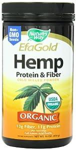 Nature's Way Hemp Protein and Fiber Powder, 16 Ounce