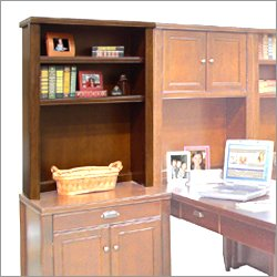 Kathy Ireland Home by Martin Furniture TLC310 Tribeca Loft Cherry Open Hutch
