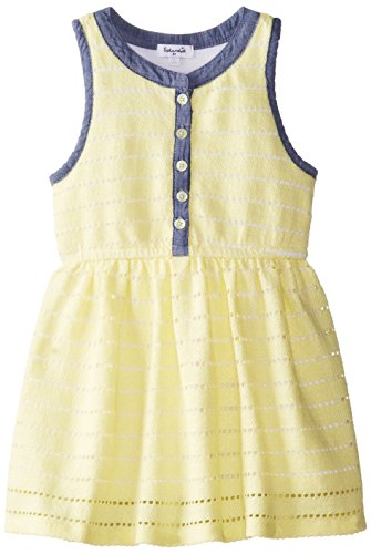 Splendid Little Girls' Stripe Knit Dress Toddler, Yellow, 4T front-937537