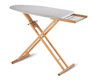 Multistir folding and portable ironing board in solid beech wood 3 height - Table a repasser en bois ...