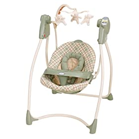 Graco Lovin Hug Easy Entry Open Top/Curved Frame Swing
