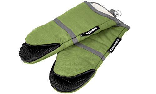 Cuisinart Puppet Oven Mitt with Silicone Grip, Green, 2-Pack