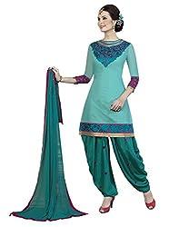 Lookslady Embroidered Turquoise Santoon Salwar Suit