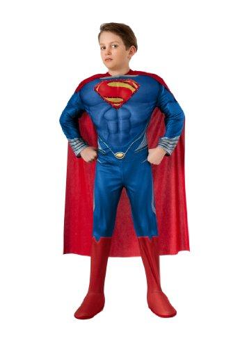 Man of Steel Child's Deluxe Lite Up Superman Costume, Medium (Man Steel compare prices)