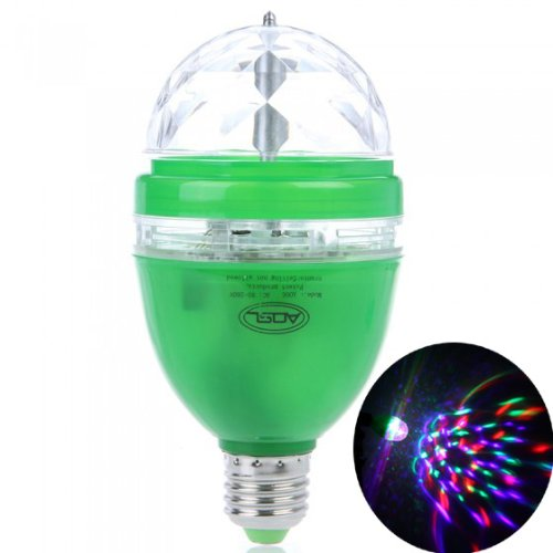 Docooler Full Color Led Rgb Rotating Lamp With Remote Sound-Activated Stage Dj Light Bulb 3W E27 85-260V