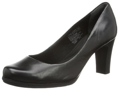 Rockport - Scarpe col tacco TM75MMH PUMP        BLACK 3, Donna, marrone scuro (Schwarz (Black)), 39