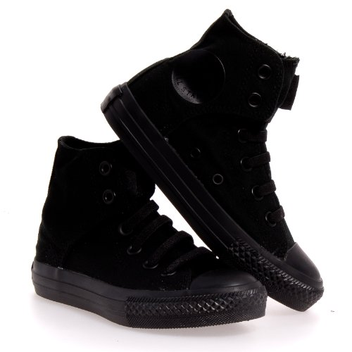 Converse Kid's Boys Chuck Taylor All Star Easy Slip Hi Fashion Sneaker Shoe, Mono Black, 13