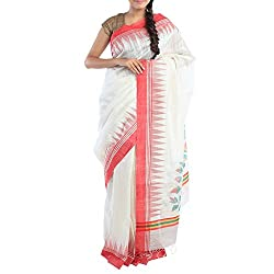 Kiara Crafts Silk Saree (kc-044_White)