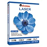 New-Universal 98240 - Laser Paper, 98 Brightness, 24lb, 8-1/2 x 11, White,  ....