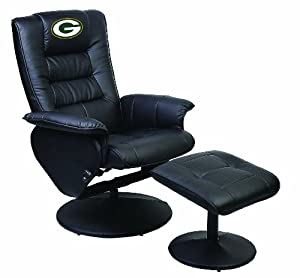 Green Bay Packers Reclining Chair With Ottoman Patio Lawn Garden