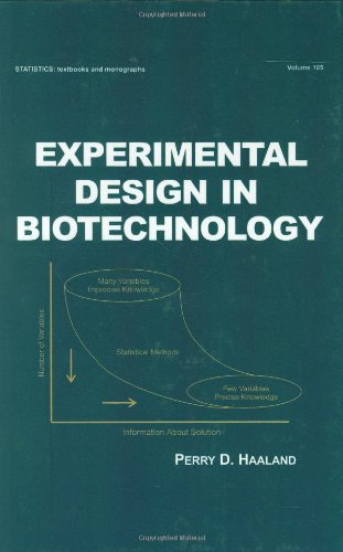 Experimental Design in Biotechnology (Statistics:  A Series of Textbooks and Monographs)
