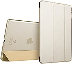 iPad Air 2 Case,ESR Yippee Color Series Smart Cover+Transparent Back Cover [Ultra Slim] [Light Weight] [Scratch-Resistant Lining] [Perfect Fit] [Auto Wake Up/Sleep Function] for[2014 Release] iPad Air 2 Cover (Champagne Gold)
