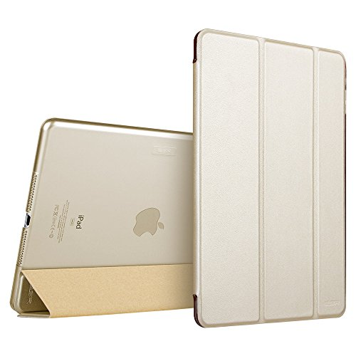 iPad Air 2 Case, ESR Smart Case Cover [Synthetic Leather] Translucent Frosted Back Magnetic Cover with Auto Sleep/Wake Function [Ultra Slim][Light Weight] (Champagne Gold) (Ipad Air Cover Auto compare prices)