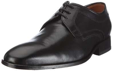 Clarks Dexie Plain, Chaussures de ville homme - Noir (Black Leather), 41.5 EU (7.5 UK)