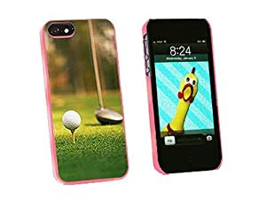 Graphics and More Golf Ball Club Golfing Snap-On Hard Protective Case for iPhone 5/5s - Non-Retail Packaging - Pink