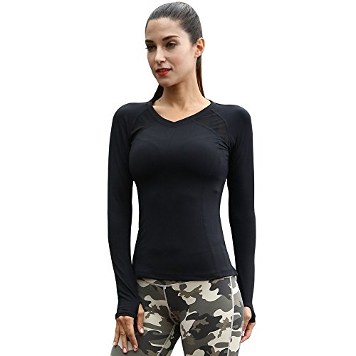 Solitary-Walker-Womens-Outdoor-Yoga-Gym-Running-Sports-Quick-Drying-T-Shirt