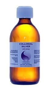 Enhanced Colloidal Silver 20 ppm Amber Glass 300ml High pH 9.0