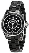 Chanel Womens H2569 J12 Black Ceramic Bracelet Watch