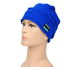 buy Outdoor Bluetooth Wireless Hat Cap With Built-In Stereo Speakers W/Microphone Hands Free Phone Calls For Phone For Valentine'S Day Gifts(Blue)