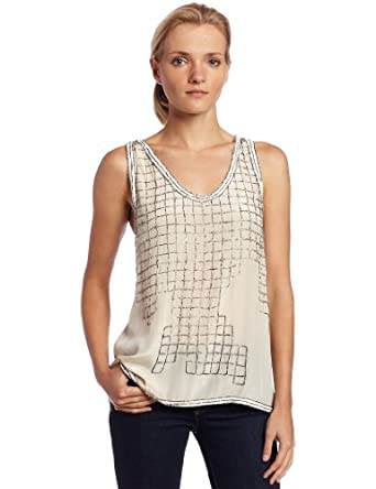 Joie Women's Tilda Tank Top, Natural, Large