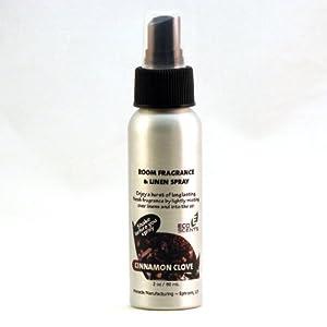 EcoScents Room & Linen Spray - Cinnamon Clove. Ideal for home, auto, RV, closets, linens.