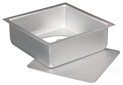 dealglad® 15,2x 15,2x 7,6cm Cheesecake Poêle carrée en aluminium anodisé en mousseline de soie Moule à gâteau Moule à pâtisserie à fond amovible