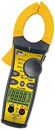 Ideal Industries 61-765 TightSight Series 760 True RMS Clamp-Meter, 660A AC/DC, Conductors to 36mm, Capacitance, Frequency, and Resistance Measurement