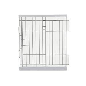 Richell Expandable Pet Pen Divider, Small, Origami White