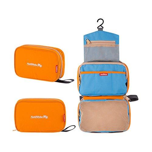 Naturehike Travel Wash Bag Outdoor Portable Bag Unisex Voyage Sacs Etanche Sac de Cosmetiques (Orange)