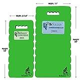 InSassy (TM) Garden Kneeler Wave Pad - High Density Foam for Best Knee Protection (Green)