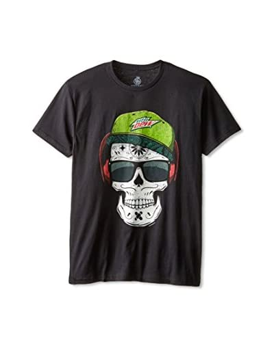 Body Rags Men's Mountain Dew Skull Thug Short Sleeve T-Shirt