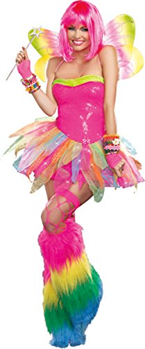 Dreamgirl Rainbow Fairy Costume, Xlarge