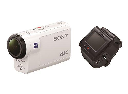 Sony-FDR-X3000R-4K-Action-Cam-mit-BOSS-Exmor-R-CMOS-Sensor-Carl-Zeiss-Tessar-Optik-GPS-WiFi-NFC-mit-RM-LVR3-Live-View-Remote-Fernbedienung-wei