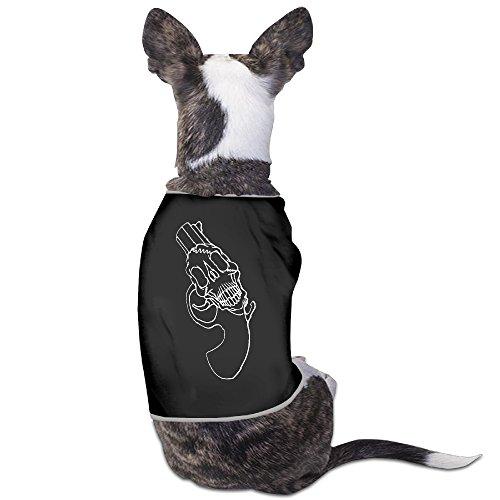 [Skull With Gun Mixed Custom Dog Costume The Dog For A Walk Black SizeL] (Alan Wake Costume)