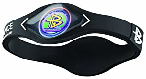 Power Balance-The Original Performance Wristband (Black/White, Large)