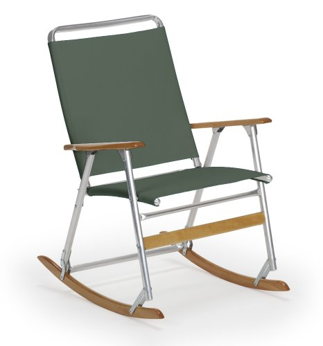Telescope Casual High Back Folding Rocking Arm Beach Chair, Forest Green