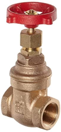 Milwaukee Valve 105 Series Bronze Gate Valve, General Service, Class 125, Non-Rising Stem, NPT Female