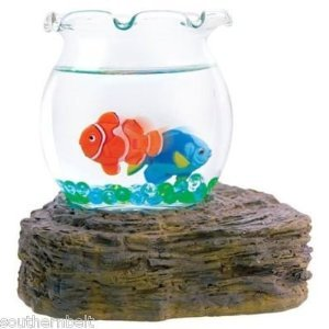 Magic Swimming Fish Bowl No Maintenance Desktop Toy Tropical Fish (Moving Fish compare prices)