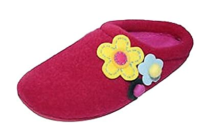Ladies Famous DUNLOP POPPY clog mule slippers FUCHSIA size 4 UK