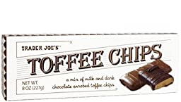 Trader Joe\'s Toffee Chips 8 Oz (Pack of 4)