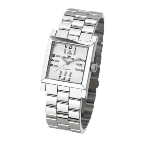 Fortis ladies watch Square SL automatic silver 629.20.72 M
