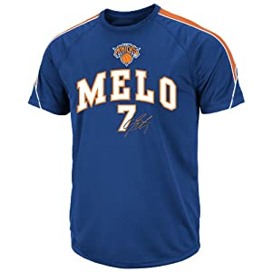 NBA Mens New York Knicks Carmelo Anthony Elevate The Game Short Sleeve Crew Neck... by Majestic