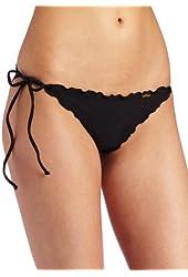Luli Fama Women's Cosita Buena Wavy Tie-Side Brazilian Bikini Bottom